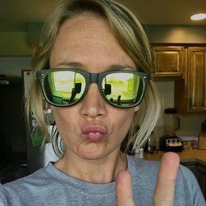 Mirror wayfarer-style sunglasses